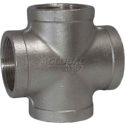 "Trenton Pipe SS304-63620 2"" Class 150, Cross, Stainless Steel 304"