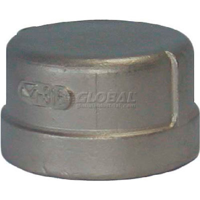 """Trenton Pipe Ss304-63702 1/4"""" Class 150, Cap, Stainless Steel 304 - Pkg Qty 25"""