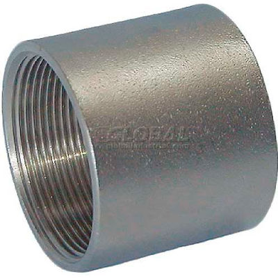 """Trenton Pipe Ss304-64001 1/8"""" Class 150, Coupling, Stainless Steel 304 - Pkg Qty 25"""