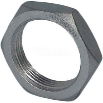 "Trenton Pipe Ss304-65901 1/8"" Class 150, Locknut, Stainless Steel 304 - Pkg Qty 25"