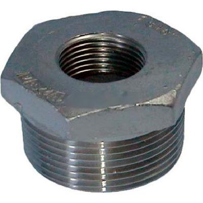"Trenton Pipe Ss304-66014x12 1-1/2""X1-1/4"" Class 150, Hex Bushing, Stainless Steel 304 - Pkg Qty 25"