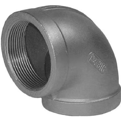 """Trenton Pipe Ss316-60004 1/2"""" Class 150, 90 Degree Elbow, Stainless Steel 316 - Pkg Qty 25"""