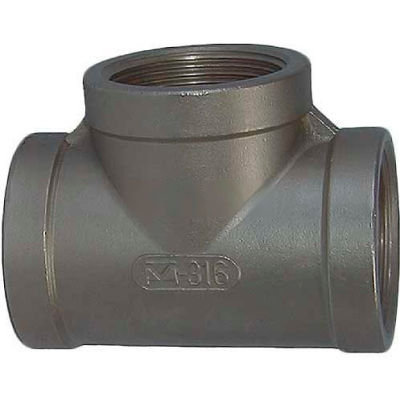 """Trenton Pipe Ss316-62014 1-1/2"""" Class 150, Tee, Stainless Steel 316 - Pkg Qty 5"""