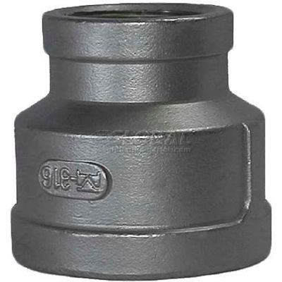 """Trenton Pipe SS316-64130X14 3""""X1-1/2"""" Class 150, Reducing Coupling, Stainless Steel 316"""