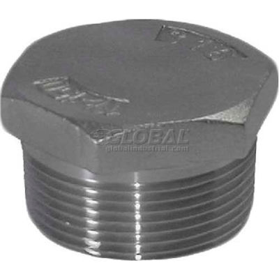"""Trenton Pipe Ss316-67024h 2-1/2"""" Class 150, Hex Head Plug, Stainless Steel 316 - Pkg Qty 5"""