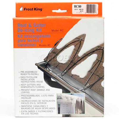 Frost King Roof Cable De-Icer 120V 80'L - Pkg Qty 3