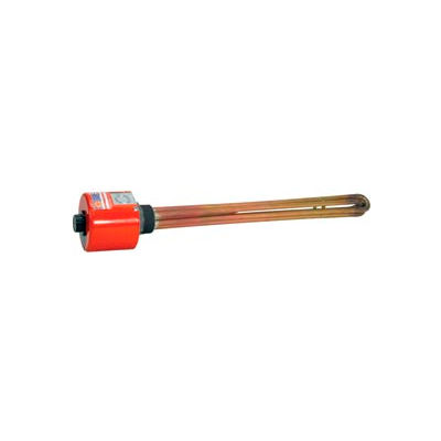 """Tempco Brass/Copper Immersion Heater TSP02095, 2-1/2"""" NPT 47-3/8""""D 18000W 480V T-Stat"""
