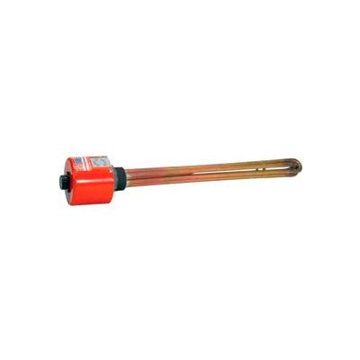 """Tempco Brass/Copper Immersion Heater TSP03213, 2"""" NPT 8""""D 2000W 240V T-Stat"""