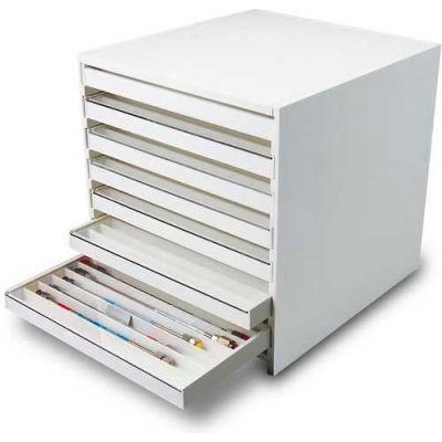 "TrippNT™ White PVC Mega 108 Column HPLC Storage Cabinet with Clear Lids, 15""W x 16""D x 16""H"