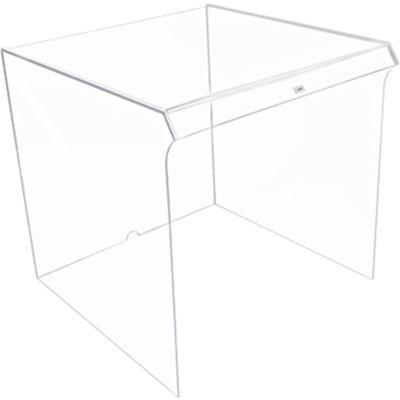 "TrippNT™ Small Clear Acrylic Equipment Draft Shield, 13""W x 14""D x 13""H"