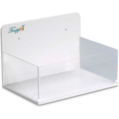 "TrippNT™ White PVC/Acrylic Small Lab Box with Double Sided Tape, 9""W x 6""D x 6""H"