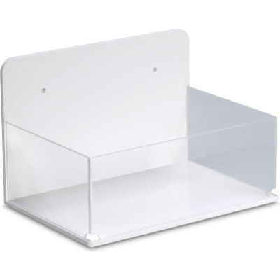 """TrippNT™ Small Lab Box with Magnetic Mount, 9""""W x 6""""D x 6""""H, White/Clear"""