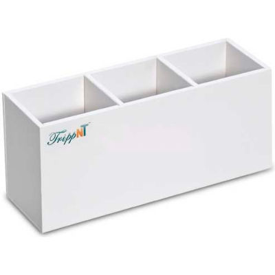 """TrippNT™ Safety Glasses Holder with 3 Compartments and Mounting Tape, 11""""W x 3""""D x 5""""H"""