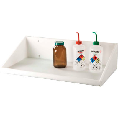"TrippNT™ High Density Polyethylene Shelf, 24""W x 12""D x 6""H, White"