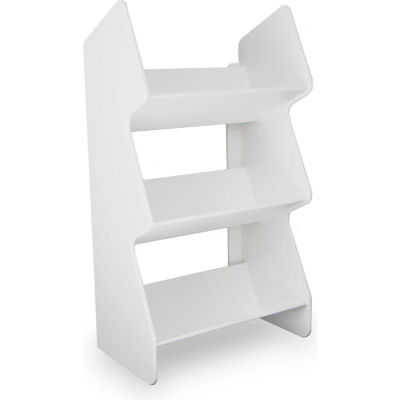 "TrippNT™ 51013 Small Tilted Safety Shelf, 12""W x 8""D x 22""H, White"
