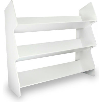 "TrippNT™ 51014 Large Tilted Safety Shelf, 24""W x 8""D x 22""H, White"