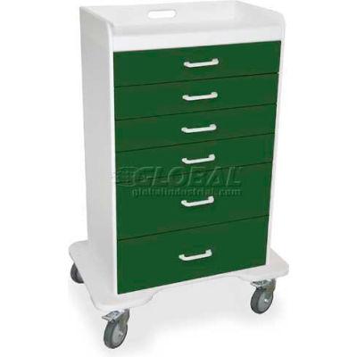 "TrippNT™ 51075 Locking 6 Drawer Procedure Cart, Hosta Leaf Green, 31""W x 20""D x 48""H"