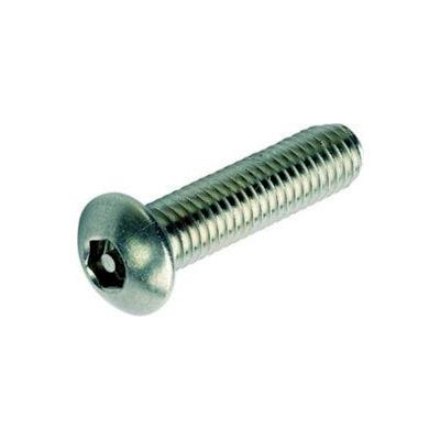 "12-24 x 5/8"" Security Machine Screw - Button Hex Socket Head - Alloy Steel - Black Oxide - 100 Pk"