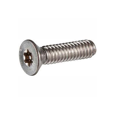 "1/4-20 x 3/8"" Security Machine Screw - Flat Torx Head - 302HQ Stainless Steel - FT - UNC - 100 Pk"