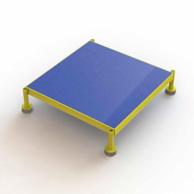 "24 X 24 Inch Adjustable Height Steel Work Platform, 9""H To 14""H - MCOS24249"