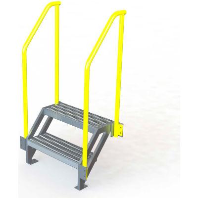 "U-Design Max-Access Aluminum Work Platforms - 2 Step 20""H 50 Deg. Stair Unit - UAP0250"