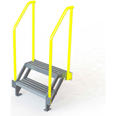 "U-Design Max-Access Aluminum Work Platforms - 2 Step 20""H 50 Deg. Stair Unit - UAP0250"