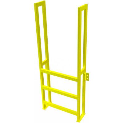 "U-Design Max-Access Aluminum Work Platforms - 3 Step 30""H 90 Deg. Stair Unit - UAP0390"