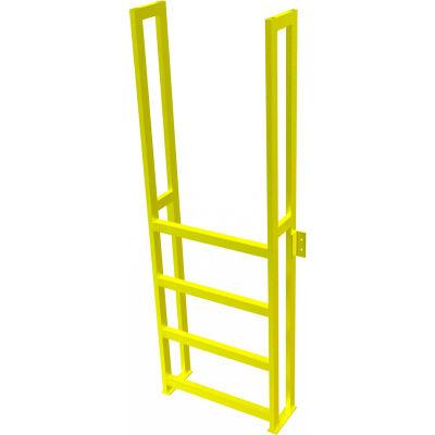 "U-Design Max-Access Aluminum Work Platforms - 4 Step 40""H 90 Deg. Stair Unit - UAP0490"