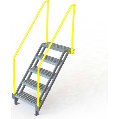 "U-Design Max-Access Aluminum Work Platforms - 5 Step 50""H 50 Deg. Stair Unit - UAP0550"