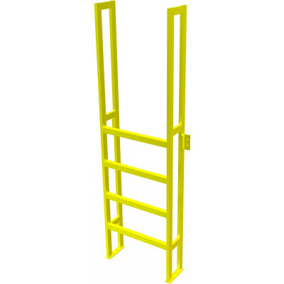 "U-Design Max-Access Aluminum Work Platforms - 5 Step 50""H 90 Deg. Stair Unit - UAP0590"