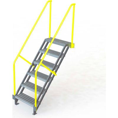 "U-Design Max-Access Aluminum Work Platforms - 6 Step 60""H 50 Deg. Stair Unit - UAP0650"