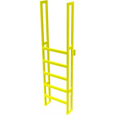 "U-Design Max-Access Aluminum Work Platforms - 6 Step 60""H 90 Deg. Stair Unit - UAP0690"