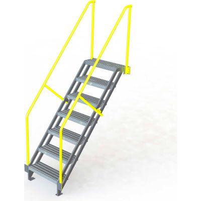 "U-Design Max-Access Aluminum Work Platforms - 7 Step 70""H 50 Deg. Stair Unit - UAP0750"