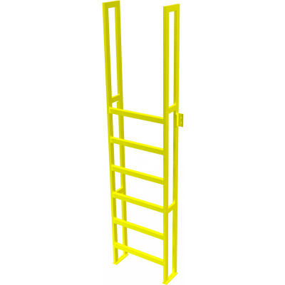 "U-Design Max-Access Aluminum Work Platforms - 7 Step 70""H 90 Deg. Stair Unit - UAP0790"