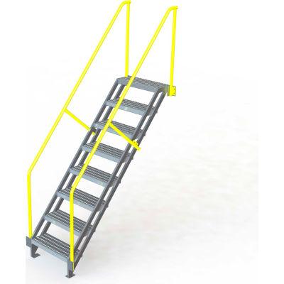 "U-Design Max-Access Aluminum Work Platforms - 8 Step 80""H 50 Deg. Stair Unit - UAP0850"
