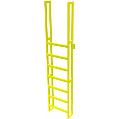 "U-Design Max-Access Aluminum Work Platforms - 8 Step 80""H 90 Deg. Stair Unit - UAP0890"