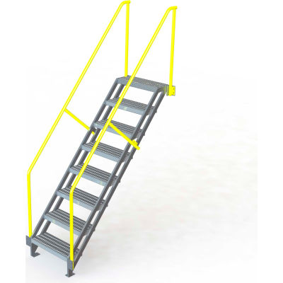 "U-Design Max-Access Aluminum Work Platforms - 9 Step 90""H 50 Deg. Stair Unit - UAP0950"