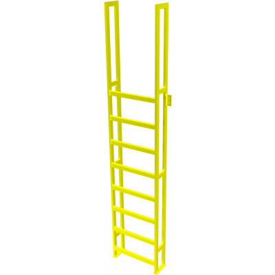 "U-Design Max-Access Aluminum Work Platforms - 9 Step 90""H 90 Deg. Stair Unit - UAP0990"