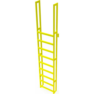 "U-Design Max-Access Aluminum Work Platforms - 10 Step 100""H 90 Deg. Stair Unit - UAP1090"