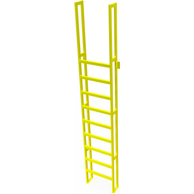 "U-Design Max-Access Aluminum Work Platforms - 11 Step 110""H 90 Deg. Stair Unit - UAP1190"