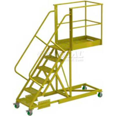 "Supported 6 Step Cantilever Ladder with 20"" Long Platform - Grip Strut"
