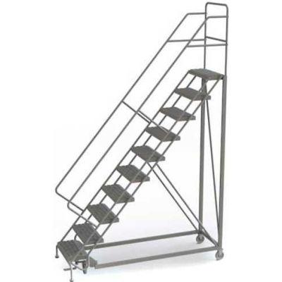 10 Step Configurable Forward Descent Rolling Ladder - Grip Strut Tread UKDEC110242