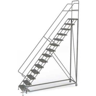 14 Step Configurable Forward Descent Rolling Ladder - Perforated Tread UKDEC114246