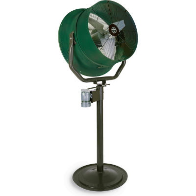 Jetaire® 30 Inch High Velocity Fan, Non-Oscillating, 460 V, 3PH, 10600 CFM, 1 HP, Green