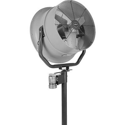 Jetaire® 30 Inch High Velocity Fan, Oscillating, 460 V, 3PH, 10600 CFM, 1 HP, Gray HV3015OC-Z