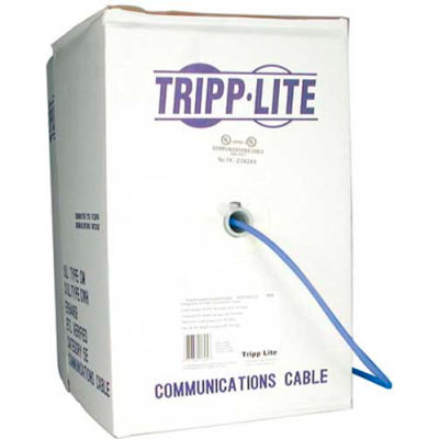 Tripp Lite N222-01K-BL 1000ft Cat6 550MHz Gigabit Bulk Solid PVC Cable, Blue, 1000', Non-Plenum