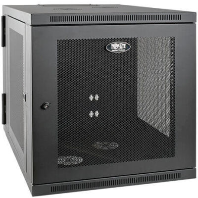 Tripp Lite 12U SmartRack Server-Depth Wall-Mount Rack Enclosure Cabinet, Hinged Back