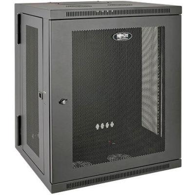 Tripp Lite 15U SmartRack Switch-Depth Wall-Mount Rack Enclosure Cabinet, Hinged Back