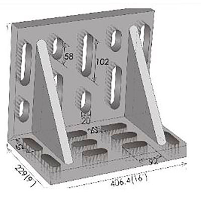 "Imported Swivel Angle Plate 15"" x 9"" x 12"""