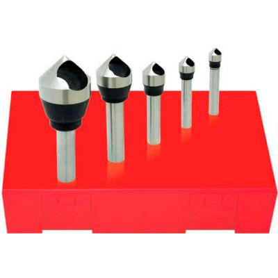Made in USA HSS Zero Flute Countersink & Deburring Tool Set 90° #0 - #4
